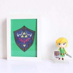 Paper Art BOUCLIER TRIFORCE