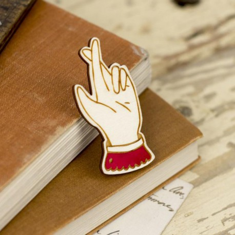 Broche en bois FINGERS